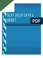 Alat Ukur Gaya & Berat