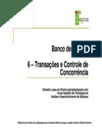 (6 - Transações e Controle de Concorrência)