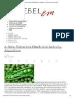A New Pulseless Electrical Activity Algorithm - R.E.B.E.L
