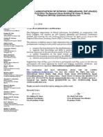 Letter of Invitation Pasli 2014
