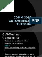 COMM 3050 GoToWebinar Tutorial
