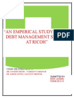 Report on Debt Management
