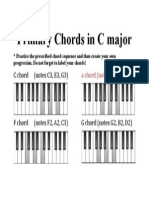 Primary Chords in C Major