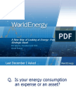 A New Way of Looking at Energy- From Expense to Strategic Asset