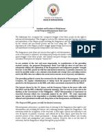 Analysis and Position of Makabayan on the Proposed Bangsamoro Basic Law