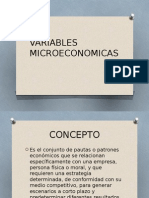Variables Microeconomicas