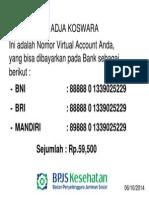 Contoh virtual Account bpjs