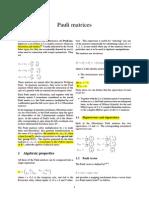 Pauli Matrices