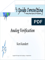 Analog Verification, An Introduction