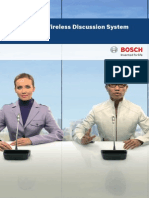 Bosch - Conferencing - DCN Wireless - Data Brochure