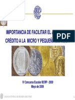 Importancia Facilitar El Acceso Al Crédito a la Micro y Pequeña Empresa