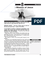2nd Quarter 2015 Lesson 8 Easy Reading Edition the Mission of Jesus