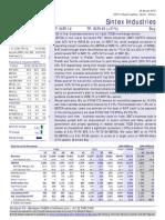 Sintex Analysis Report From Motilal 28 Jan 2015