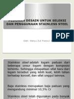 Pedoman Desain Untuk Seleksi Dan Penggunaan Stainless Steel