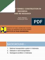 Perkembangan Terowongan Di Indonesia_Seminar Bina Konstruksi12052015