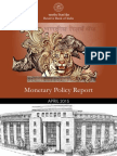 Monetary Policy Report April 15