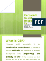 CSR Under the Companies Act 2013 for the ICAI Webcast on 11 June 2014