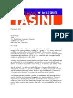 Tasini Letter to Wright