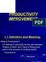 Productivity Concept, Measurement and Improvement 09