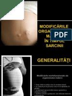 Modificarile Organismului Matern in Sarcina