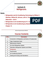 Lecture 4 Refrigerants 6th Week