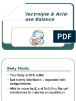 Fluid Electrolyte Acid-Base Balance