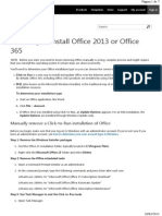 Troubleshooting Manually Uninstall Office 2013
