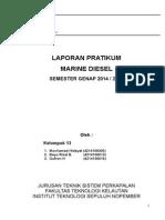 Praktikum Marine Diesel Kelompok 13