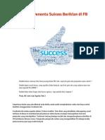 5 Faktor Penentu Sukses Beriklan Di FB