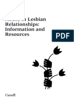 Abuse in Lesbian Relationships Information and Resources
