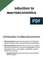Introduction Macroeconomics