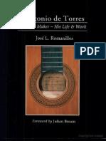Livro Antonio de Torres Guitar Maker His Life and Work J. L . Romanillos