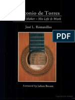 Livro Antonio de Torres Guitar Maker His Life and Work J. L . Romanillos