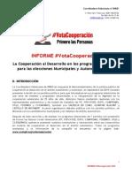 Informe Sobre Los Programas Electorales en Cooperacion La Desarrollo - Elecciones 2015(1)