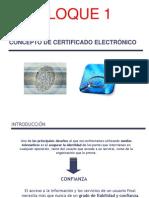 Certificado Electrónico BLOQUE 1