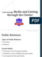 public relations and earned media- rvi