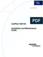 Call Pilot 100-150 Installation and Maintenance GuideCall Pilot 100-150 Installation and Maintenance Guide