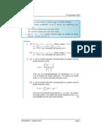 Examen de Probabilités 2011