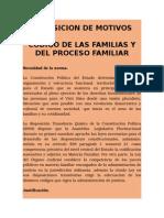 Exposición de Motivos Sobre El Código de Familias de Bolivia