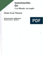 Jean LucNancy La Representacion Prohibida