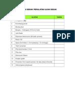 Senarai Semak Peralatan Ujian Segak