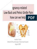 Pregnancy-related Pelvic Girdle Pain How Can We Help 0809