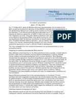 Petersberg Climate Dialogue VI Conclusions