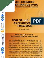 GvSIG Aplicado Agricultura de Precision