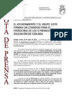 150519 NP- Firma Convenio Entre El Ayuntamiento de Coslada y El Grupo Juste