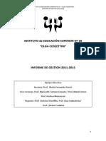 Informe de Gestión 2011-2015