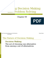 Chapter 09 Managing Decision Making and Problem Solving.ppt