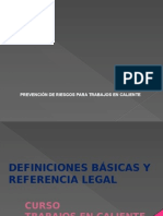 Trabajos en Caliente Deficiones Basicas y Referencia Legal