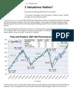 Do Stock Market Valuations Matter