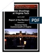 Virginia Tech Shootings - Complete Report of the Governor's Review Panel